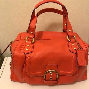 "Coach leather hobo handbag size 12""x6"""